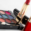 Detail of assortment of makeups. Macro shot — Stock Photo