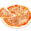 Detail of Italian pizza — Stock Photo #6347793