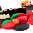 Stock Photo: Detail of colorful sweets background