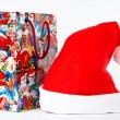 Detail of christmas hat and bag — Stock Photo #6348115
