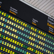 Stock Photo: Departures board at airport