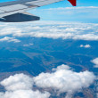 Stock Photo: Aerial view from airplane