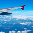 Aerial view from airplane — Stock Photo