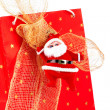 Santa Claus and red bag — Foto de Stock