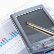 Stock Photo: PDon market financial chart background