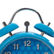 Partial view of blue alarm clock — Stock Photo
