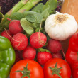 Stock Photo: Fresh vegetables background