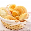 Fresh breads in a basket - Stock Photo