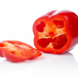 Stock Photo: Red pepper slices