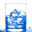 Stock Photo: Water with ice cubes