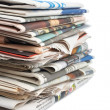 Stack of newspapers — Stockfoto #6348850