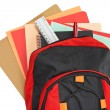 Royalty-Free Stock Photo: Backpack with school material