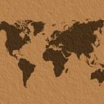 World map parchment — Stock Photo