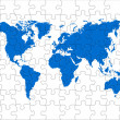 Puzzle world map — Stock Photo #6349187