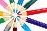 着色された学校の鉛筆 — ストック写真