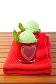 Dvě vynikající mátový zmrzliny — Stock fotografie