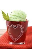Heerlijke mint ice cream — Stockfoto