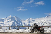 Motorbike in Grossglockner, Austria — Stock Photo
