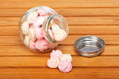 Pink marshmallows — Stock Photo