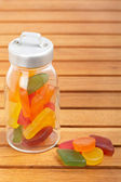 Candies in the glass jar — Stock Photo
