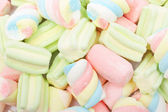 Multicolored marshmallows background — Stock Photo