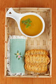 Cream of carrot soup — Stock Photo