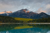 Patricia Lake and Pyramid Mountain, Canada — Stock Photo