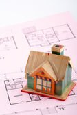 House on home plan — Stock Photo