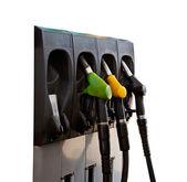 Three gas pump nozzles — Stock Photo