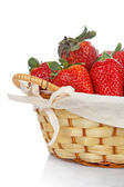 Basket of strawberries — Stock Photo
