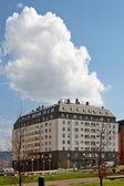 Modern apartments blocks — Stock Photo