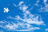 Sky background puzzle — Stock Photo