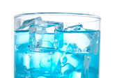 Detail of blue cocktail — Stock Photo