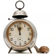 Alarm clock and a snail — Stock Photo #5753251