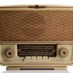 Vintage radio on white — Stock Photo #5753921