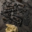 Foto de Stock  : Nuts and bolts