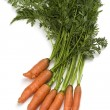 Bunch of fresh organic carrots — Stock Photo #5756247