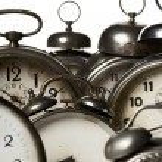 Vintage alarm clocks — Stock Photo #5756367