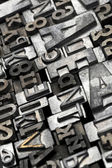 Lead letters typeset — Stock Photo