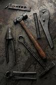 Old iron tools — Stock Photo