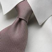 Collar with  tied necktie — Stock Photo
