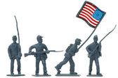 American civil war plastic soldiers — Stock Photo