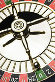 Roulette wheel with a ball — Stock Photo