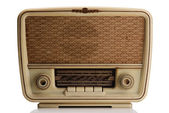 Vintage radio on white — Stock Photo