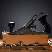 Jack plane on carpenter's table — Stock Photo