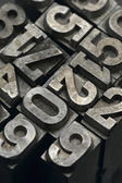 Lead letters number — Stock Photo