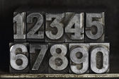 Lead letters numbers — Stock Photo