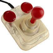 Transparent joystick isolated — Stock Photo