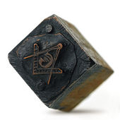 A freemason seal against dark background — Stock Photo