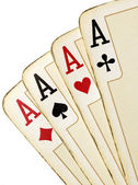 Four aces isolated — Stock Photo